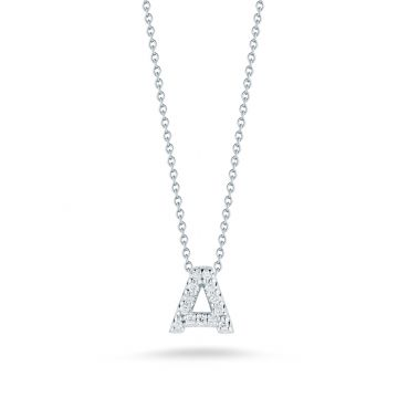 "Roberto Coin Tiny Treasures ""A"" Diamond Letter Pendant"