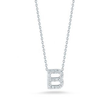 "Roberto Coin Tiny Treasures ""B"" Diamond Letter Pendant"