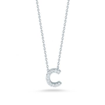 "Roberto Coin Tiny Treasures ""C"" Diamond Letter Pendant"