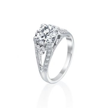 2.00ct Round Diamond Vintage Engagement Ring