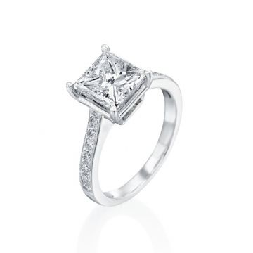 3.00ct Princess Cut Diamond Engagement Ring