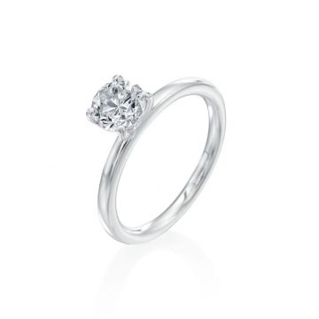 1.01ct Round Diamond Solitaire Engagement Ring