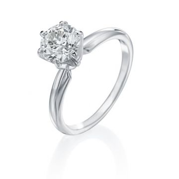 1.28ct European Cut Diamond Solitaire Engagement Ring