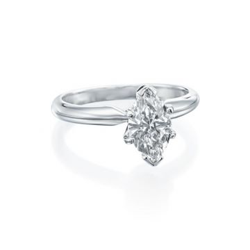 1.00ct Marquise Diamond Solitaire Engagement Ring