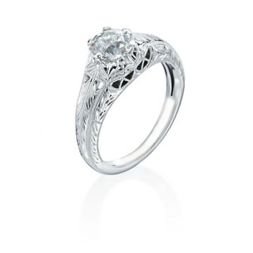 1.01ct European Cut Diamond Vintage Engagement Ring