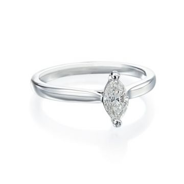 0.55ct Marquise Diamond Solitaire Engagement Ring