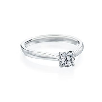 0.51ct Round Diamond Solitaire Engagement Ring