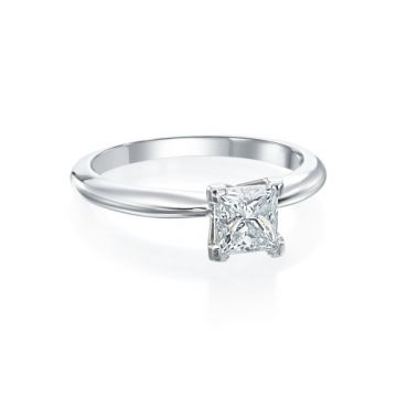 1.01ct Princess Cut Diamond Solitaire Engagement Ring