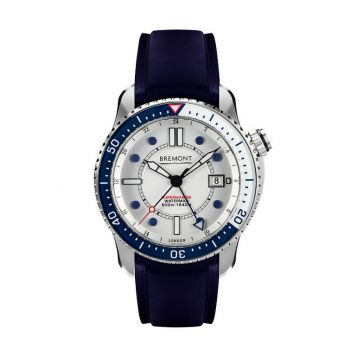Bremont Blue & White Stainless Steel 43mm Automatic Chronograph Men's Watch