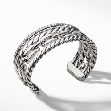 David Yurman Wellesley Cuff with Diamonds, 27mm