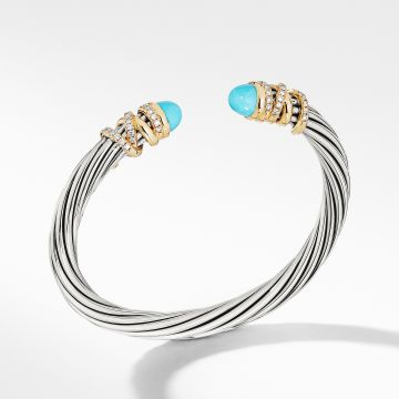 David Yurman Helena Bracelet with Turquoise and Diamonds