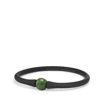 David Yurman Spiritual Beads Stone Rubber Bracelet with Nephrite Jade