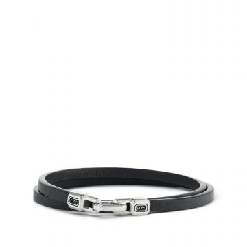 David Yurman Streamline Double-Wrap Leather Bracelet