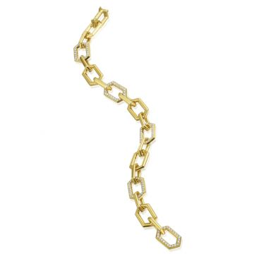 "Gumuchian 18k Yellow Gold Honeybee ""B"" Diamond Bracelet"