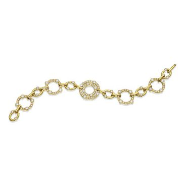 Gumuchian Carousel 18k Yellow Gold Diamond Bracelet
