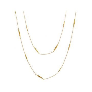Gurhan Geo Yellow 22k Gold Precious Metal Necklace