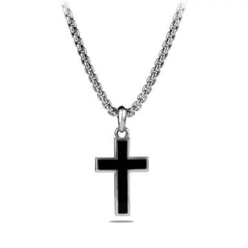 David Yurman Cross with Black Onyx