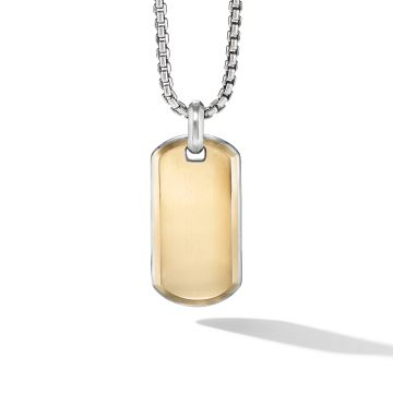 David Yurman Streamline® Tag with 18K Yellow Gold