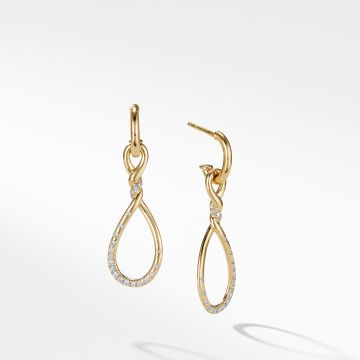 David Yurman Continuance Medium Drop Earrings with Diamonds in 18K Gold