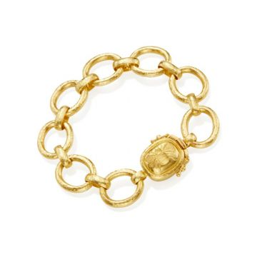 Elizabeth Locke 19k Yellow Gold Bracelet