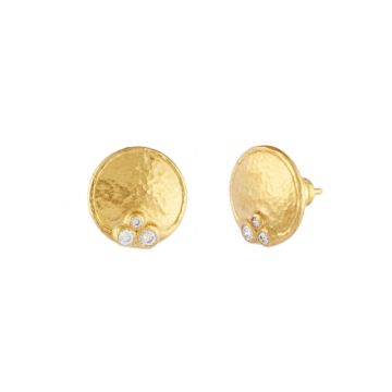 Gurhan Pointelle Yellow 22k Gold Stud Earrings