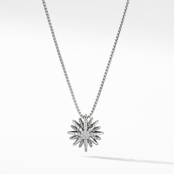 David Yurman Starburst Small Pendant Necklace with Diamonds