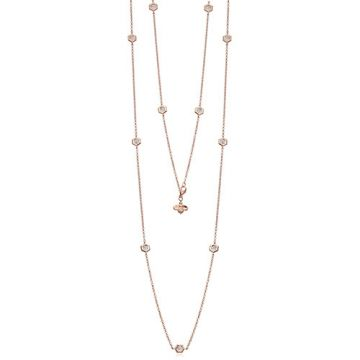 "Gumuchian Mini ""B"" 18k Rose Gold Diamond Necklace"