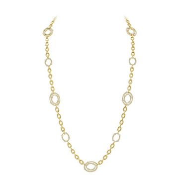 Gumuchian Carousel 18k Yellow Gold Diamond Necklace