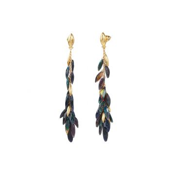 Gurhan Rainbow 24k Yellow Gold Drop Earrings - One of a Kind
