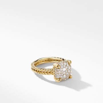 David Yurman Chatelaine® Ring in 18K Yellow Gold with Full Pavé Diamonds