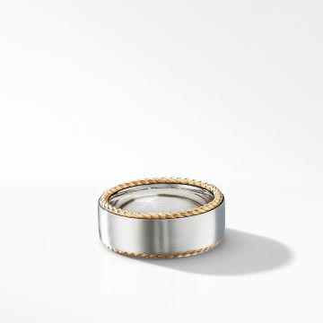 David Yurman Streamline® Cable Band Ring with 18K Yellow Gold
