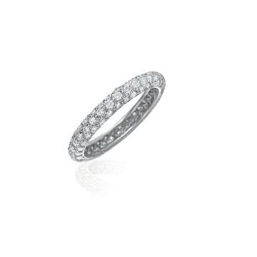 Gumuchian Bridal 18k White Gold Eternity Diamond Wedding Band