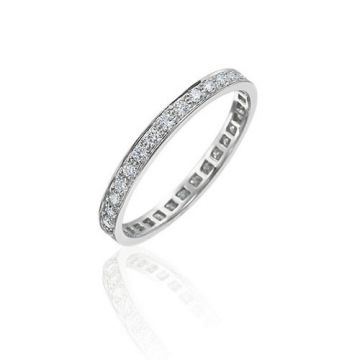 Gumuchian Bridal Platinum Cinderella Eternity Diamond Wedding Band