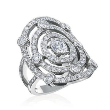 Gumuchian Carousel 18k White Gold Carnival Diamond Illusion Halo Ring
