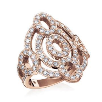 Gumuchian Carousel 18k Rose Gold Diamond Illusion Ring