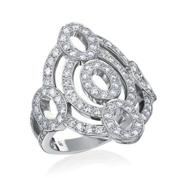 Gumuchian Carousel 18k White Gold Diamond Illusion Ring