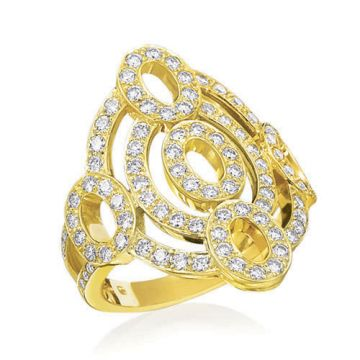Gumuchian Carousel 18k Yellow Gold Diamond Illusion Ring