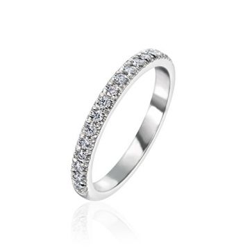 Gumuchian Bridal 18k White Gold Cinderella Diamond Wedding Band