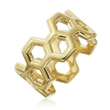 "Gumuchian 18k Yellow Gold Honeybee ""B"" Ring"