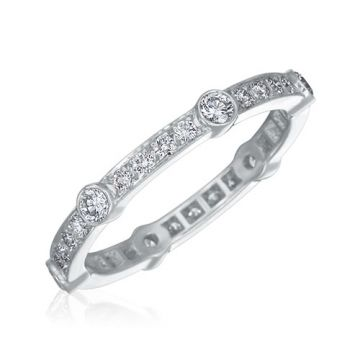 Gumuchian Carousel 18k White Gold Diamond Wedding Band