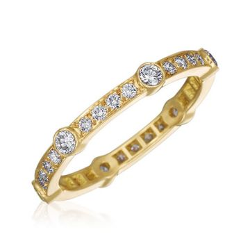 Gumuchian Carousel 18k Yellow Gold Diamond Wedding Band