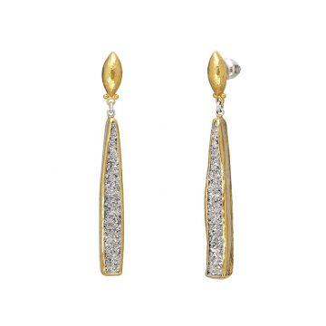 Gurhan Mystere Two-Tone Sterling Silver Drop Earrings