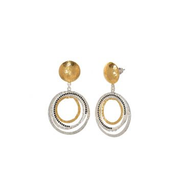 Gurhan Panther Two-Tone Sterling Silver Drop Earrings