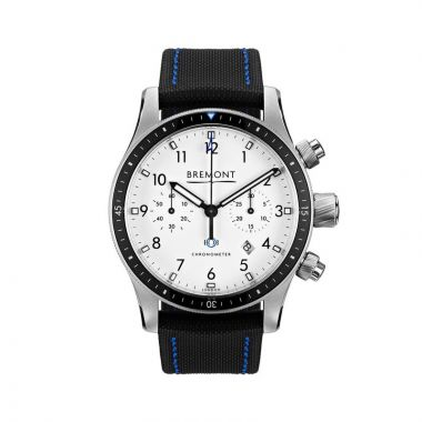 Bremont Black & White Stainless Steel 43mm Automatic Chronograph Men's Watch