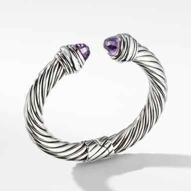 David Yurman Cable Classics Bracelet with Amethyst, 10mm