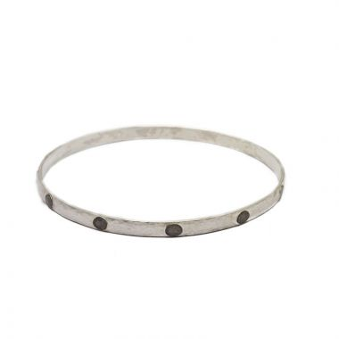 Gurhan Hoopla Two-Tone Sterling Silver Bangle Bracelet