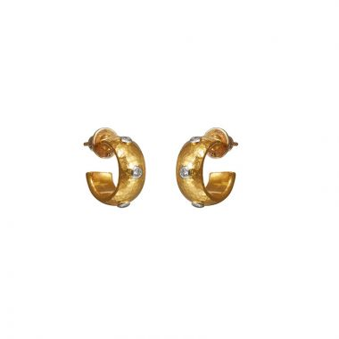 Gurhan Hoopla 24k Yellow Gold Hoop Earrings