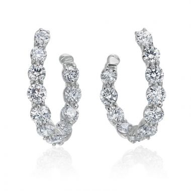 Gumuchian New Moon 18kt Gold and Diamond Curve Hoops