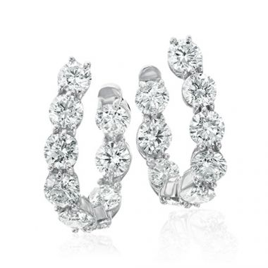 Gumuchian 18k White Gold Diamond New Moon Earrings