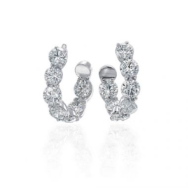 Gumuchian 18k White Gold 3.00ct Diamond Earrings